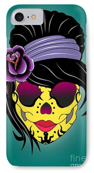 Skull 13 IPhone Case by Mark Ashkenazi