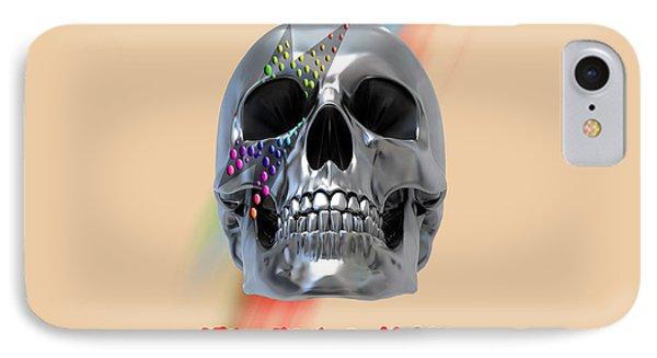 Skull Bowie  IPhone Case by Mark Ashkenazi
