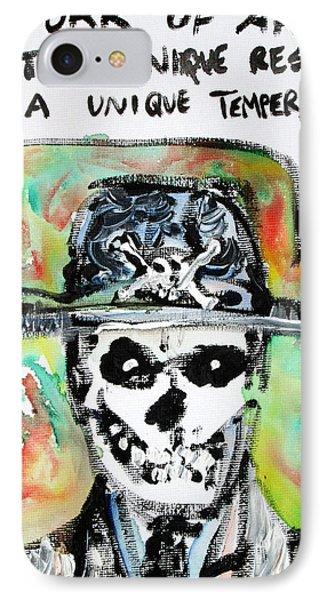 Skull Quoting Oscar Wilde.1 Phone Case by Fabrizio Cassetta