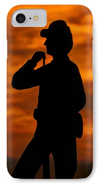 Sky Fire - Flames Of Battle 7th Pennsylvania Reserve Volunteer Infantry-a1 Sunset Antietam Phone Case by Michael Mazaika