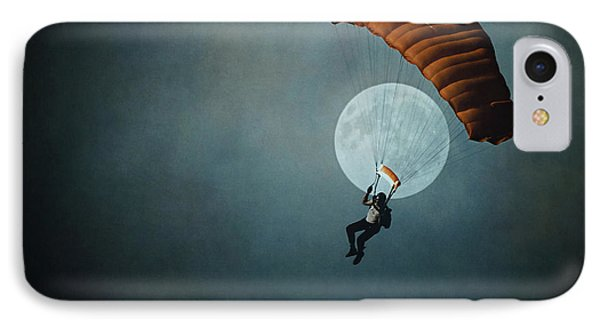Skydiver's Moon Phone Case by Trish Mistric
