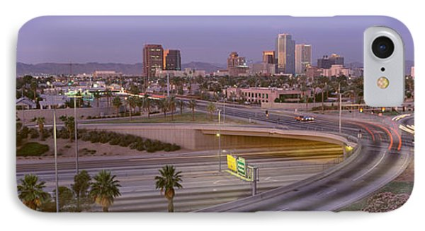 Skyline Phoenix Az Usa IPhone Case by Panoramic Images