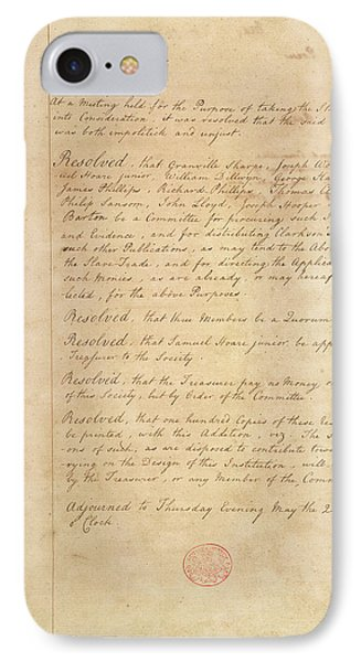 Slave Trade Abolition Committee IPhone Case by British Library