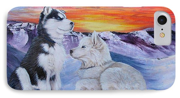 Sled Dog Dreams Phone Case by Karen  Peterson