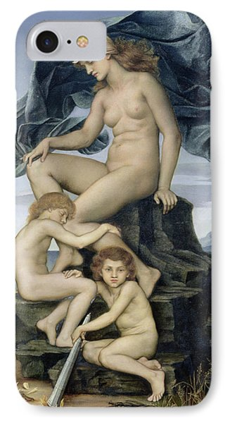 Sleep And Death The Children Of The Night Phone Case by Evelyn De Morgan