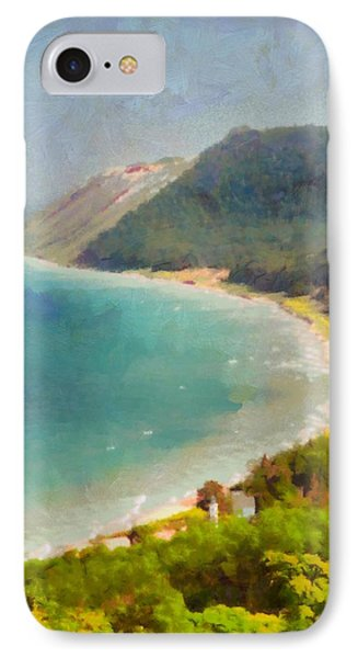 Sleeping Bear Dunes Lakeshore View IPhone Case by Dan Sproul