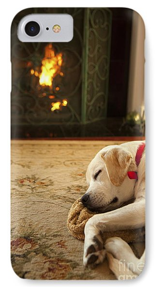 Sleepy Puppy Phone Case by Diane Diederich