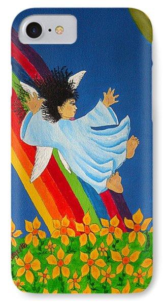 Sliding Down Rainbow IPhone Case by Pamela Allegretto