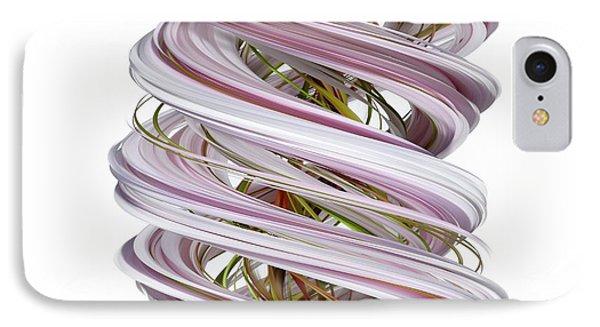 Slitscan Image Of Magnolia Flowers IPhone Case by David Parker