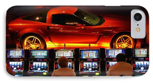 Slots Players In Vegas Phone Case by John Malone