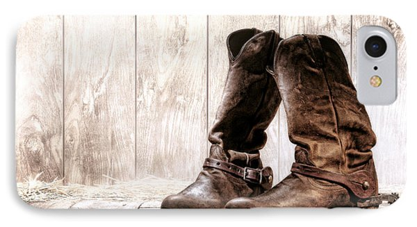 Slouch Cowboy Boots Phone Case by Olivier Le Queinec