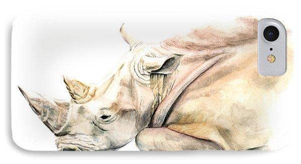Small Colour Rhino IPhone 7 Case by Elizabeth Lock