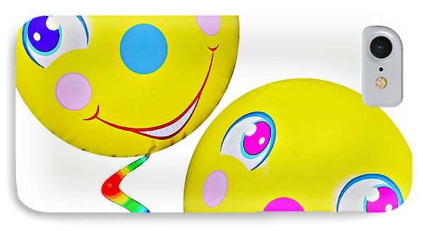 Smiley Face Balloons Phone Case by Susan Leggett