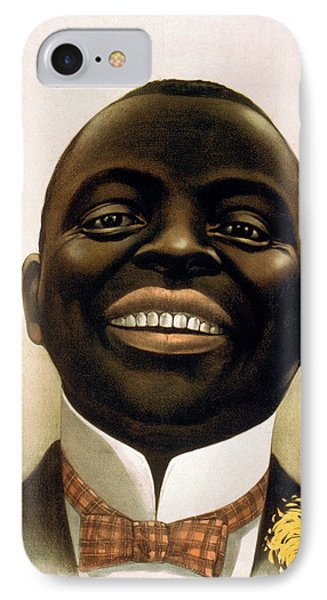 Smiling African American Circa 1900 IPhone Case by Aged Pixel
