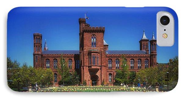 Smithsonian Castle - Washington D C IPhone Case by Mountain Dreams