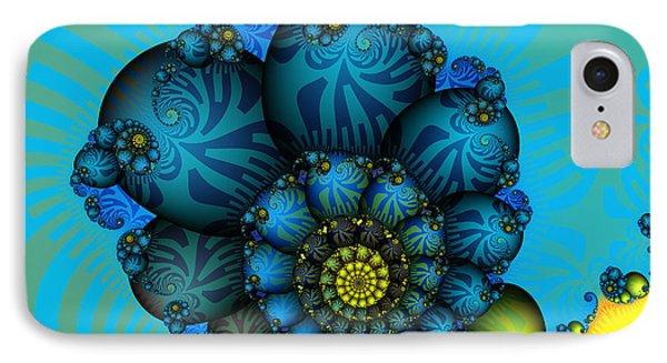 Snail Mail-fractal Art IPhone Case by Karin Kuhlmann