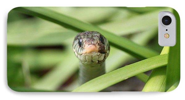 Snake In The Grass Phone Case by Jennifer E Doll