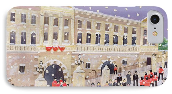 Snow At Buckingham Palace IPhone Case by William Cooper