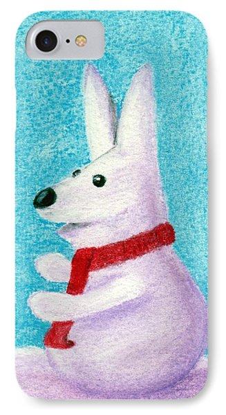 Snow Bunny IPhone Case by Anastasiya Malakhova