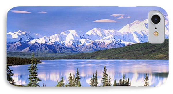 Snow Covered Mountains, Mountain Range IPhone Case by Panoramic Images