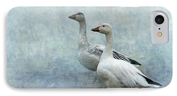 Snow Geese IPhone Case by Angie Vogel