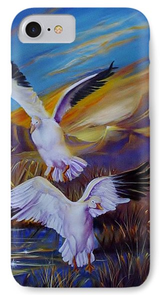 Snow Geese Phone Case by Sherry Strong