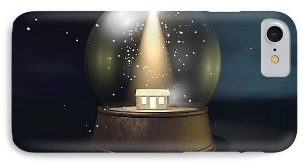 Snow Globe Nativity Scene Night Phone Case by Allan Swart