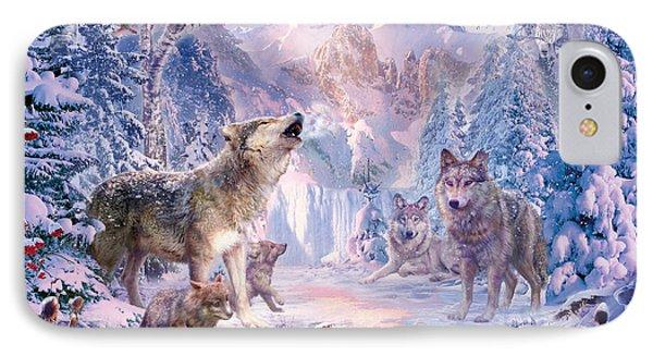 Snow Landscape Wolves IPhone Case by Jan Patrik Krasny