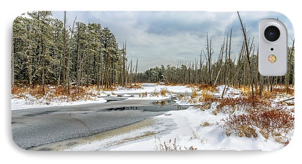 Snow On Roberts Branch IPhone Case by Louis Dallara