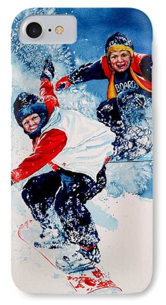 Snowboard Psyched IPhone Case by Hanne Lore Koehler