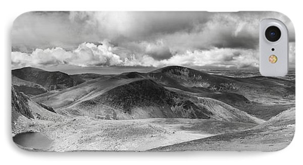 Snowdonia Panorama In Black And White Phone Case by Jane Rix