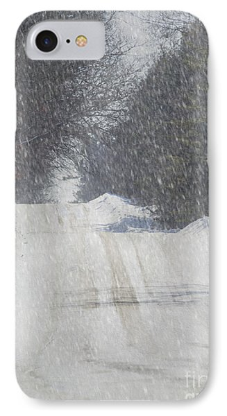 Snowy Alpine Road IPhone Case by Keith Bell
