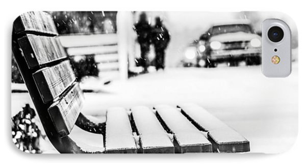 Snowy Bench IPhone Case by Shelby  Young