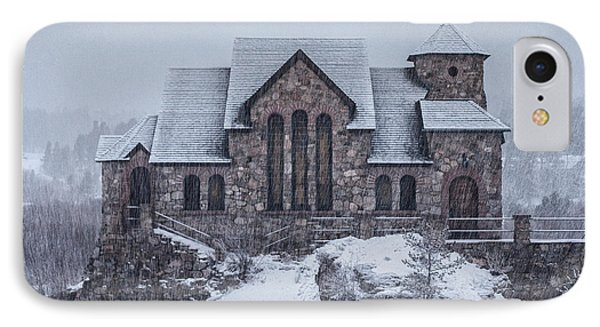 Snowy Church IPhone Case by Darren  White