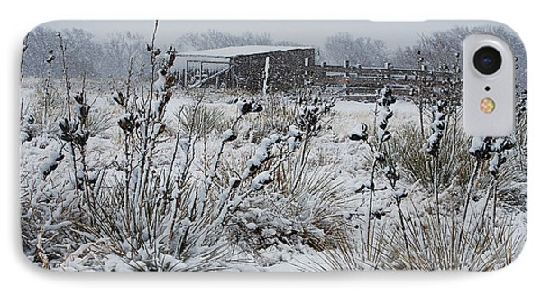 Snowy Pasture Phone Case by Melany Sarafis