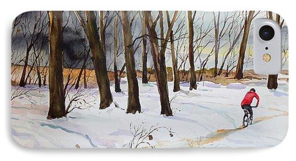 Snowy Single Track  IPhone Case by Scott Nelson