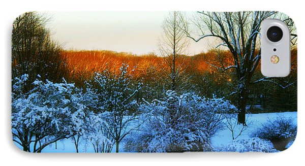 Snowy Trees In December Twilight - Pearl S. Buck Homestead Phone Case by Anna Lisa Yoder