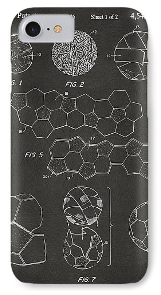 Soccer Ball Construction Artwork - Gray IPhone Case by Nikki Marie Smith