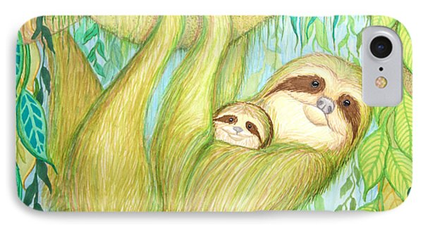 Soggy Mossy Sloth Phone Case by Nick Gustafson