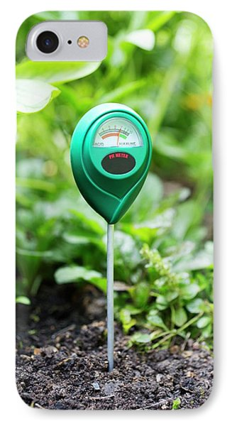 Soil Ph Meter IPhone Case by Science Photo Library