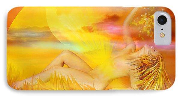 Solar Plexus Goddess Phone Case by Carol Cavalaris