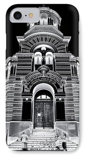 Solar Silver - Nativity Of Christ Orthodox Cathedral - Riga - Latvia Phone Case by David Hill