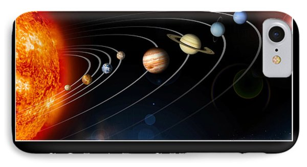 Solar System Poster IPhone Case by Stocktrek Images