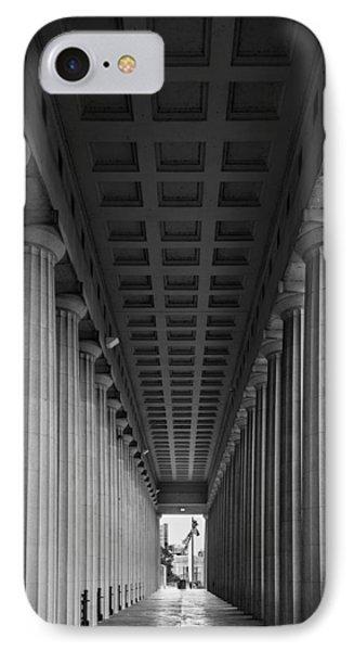 Soldier Field Colonnade Chicago B W B W IPhone Case by Steve Gadomski