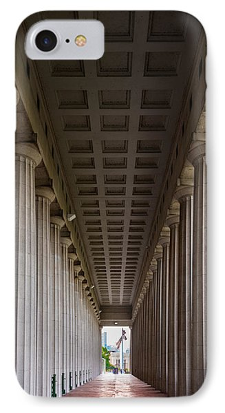 Soldier Field Colonnade IPhone Case by Steve Gadomski