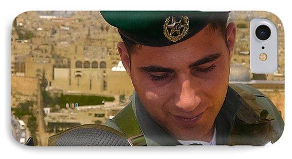 Soldier Of The Golden City Phone Case by Sandra Pena de Ortiz