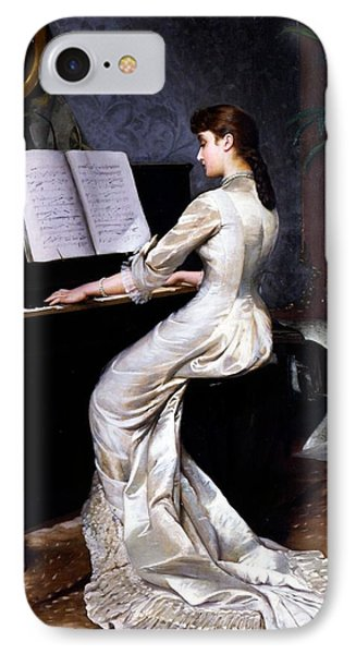Song Without Words, Piano Player, 1880 IPhone Case by George Hamilton Barrable