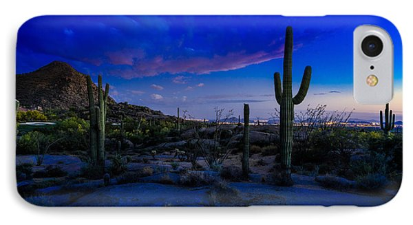 Sonoran Desert Saguaro Cactus IPhone Case by Scott McGuire