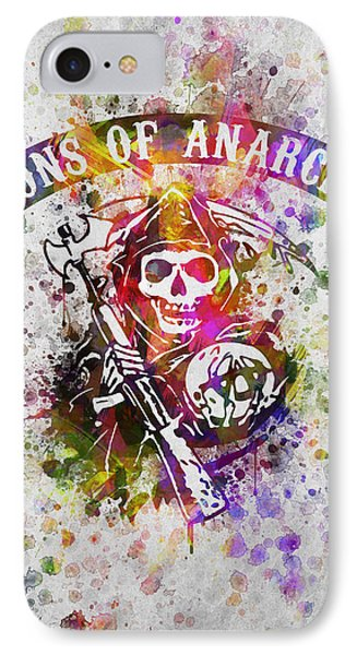 Sons Of Anarchy In Color IPhone Case by Aged Pixel