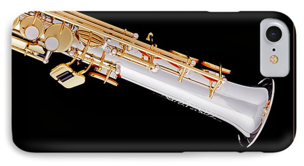 Soprano Saxophone Bell Photograph In Color 3343.02 IPhone Case by M K  Miller
